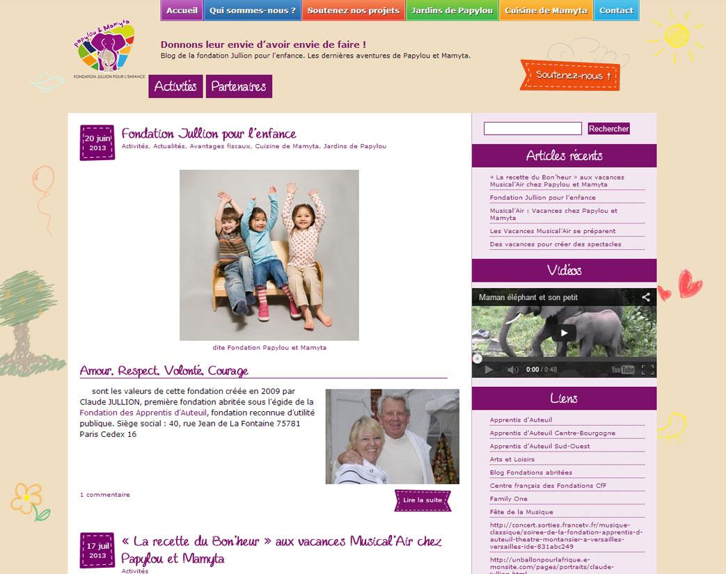 site web fondation jullion pour l'enfance