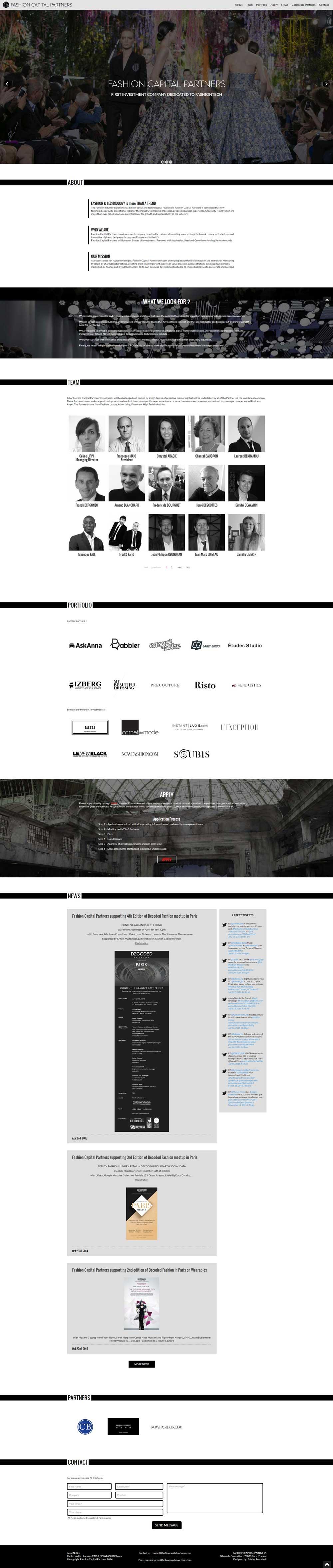 screenshot Site évenementiel