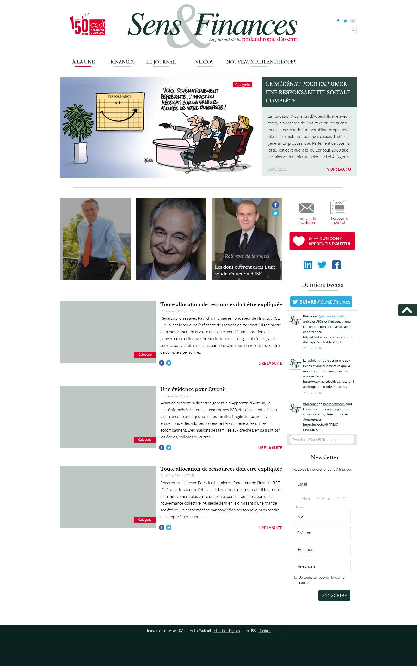 screenshot thème Sens et Finances